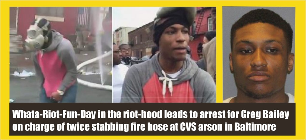 baltimore riot thug greg butler aka bailey who cut fire hose as