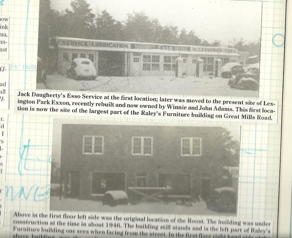 Jack Daugherty's gas station and original Roost. THE CHESAPEAKE TODAY