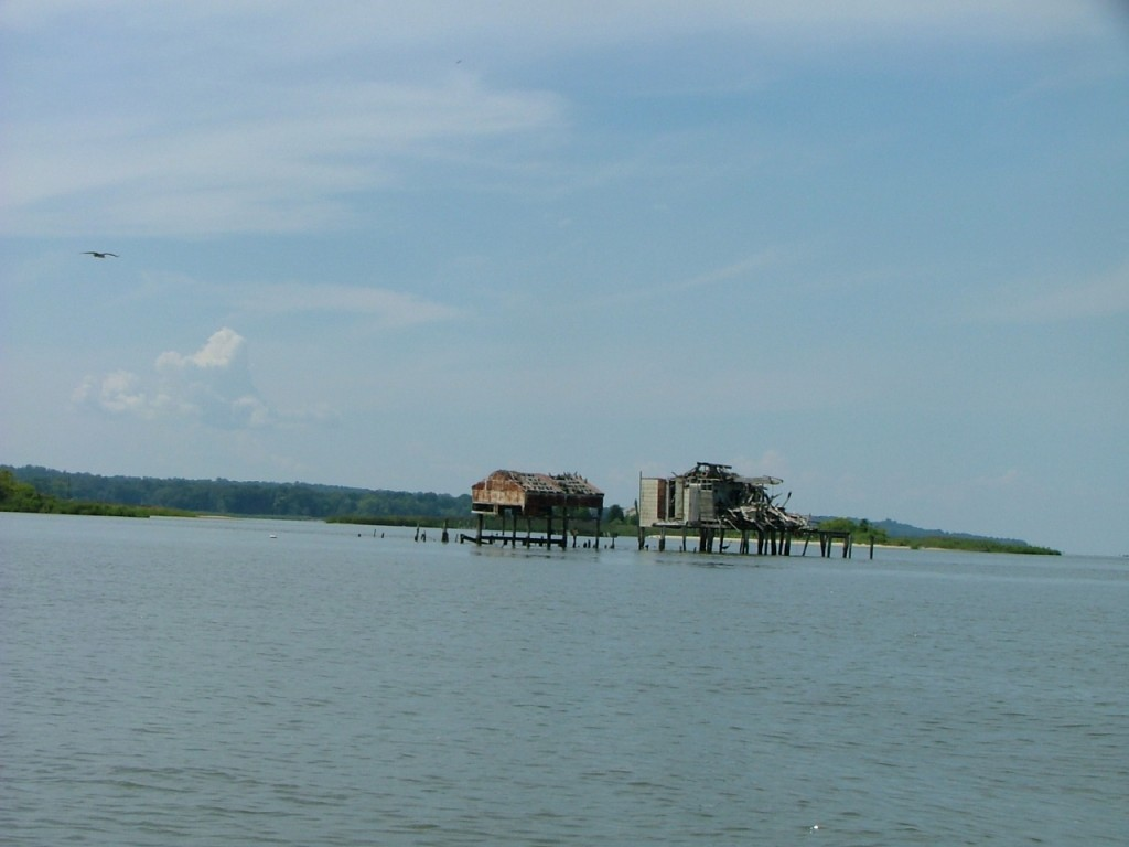 This unique hunting lodge is built out over Nomini Bay in Virginia. THE CHESAPEAKE TODAY photo