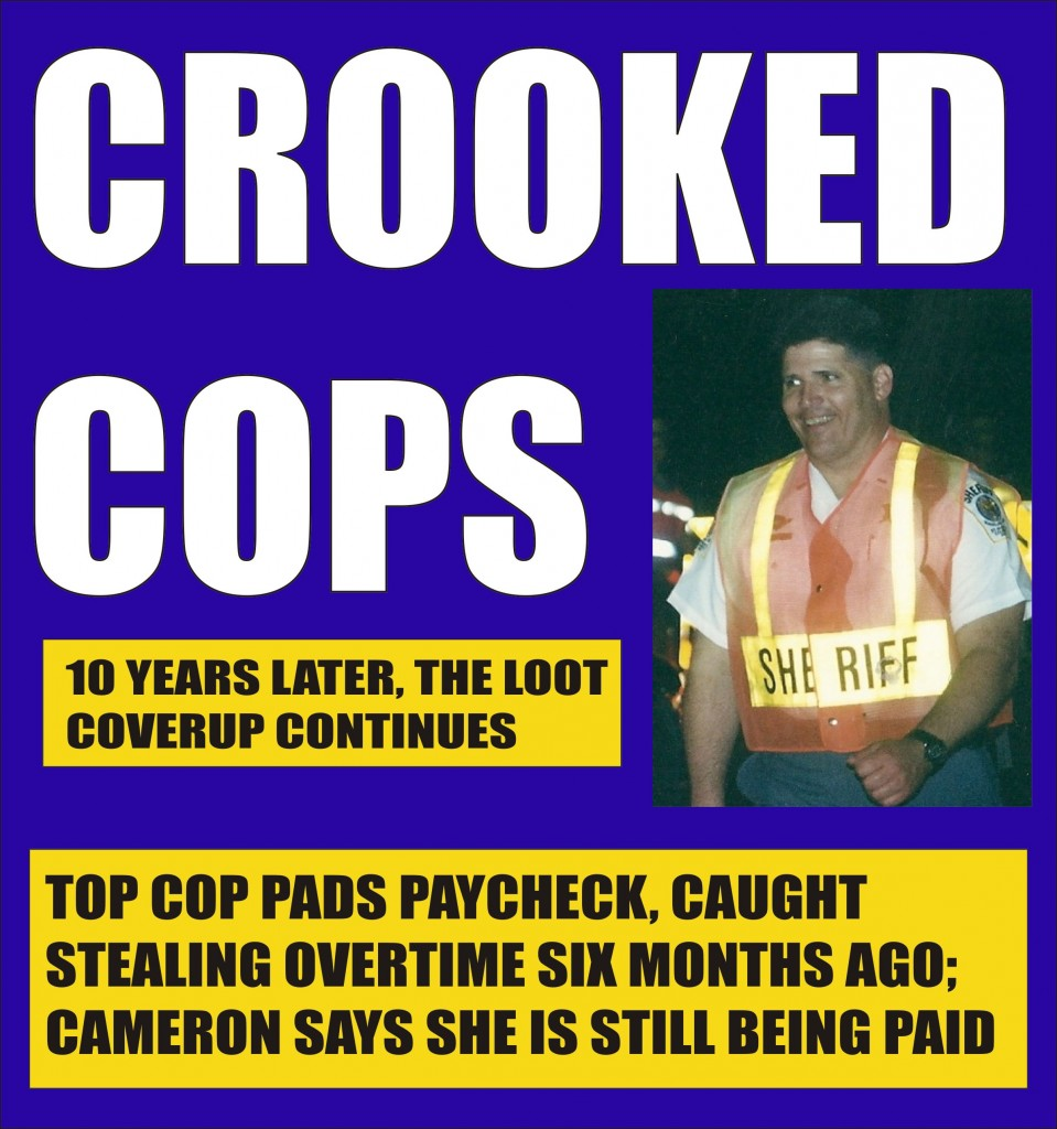 Top St. Mary's Sheriff commander benched for stealing overtime - Sheriff Cameron continues the coverup of Loot Scandal