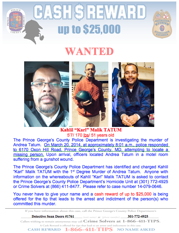 Tatum PGPD wanted poster 032514