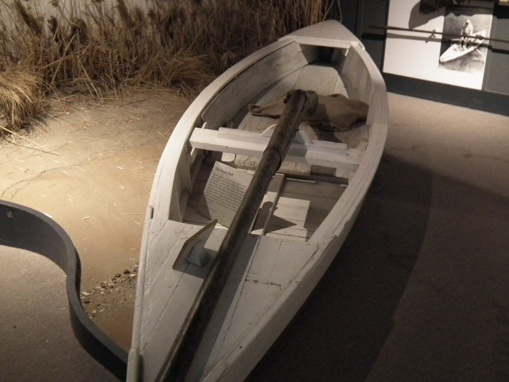 This boat-mounted gun is a serious part of Maryland tidewater history, known as a Market Gun.  The gun could bring down a lot of birds.  THE CHESAPEAKE TODAY photo