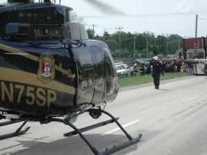 Delaware State Police medevac helicopter.