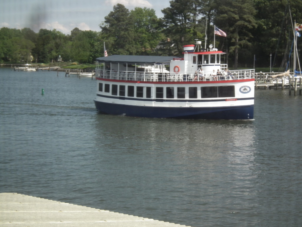 Its not all gawking at boats or nautical artifacts at St. Michael's as regularly scheduled boat tours on the Patriot leaves the dock for trips out on the river.  THE CHESAPEAKE TODAY photo