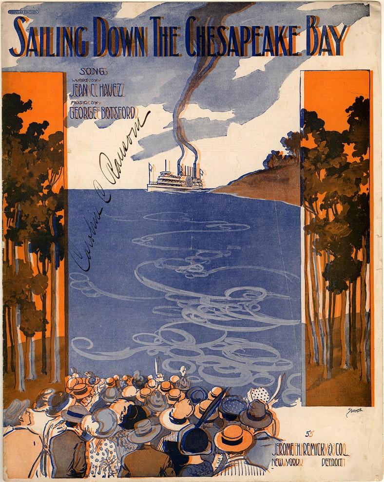 Sailing Down The Chesapeake Bay. Historic sheet music collection. Duke University, Library of Congress