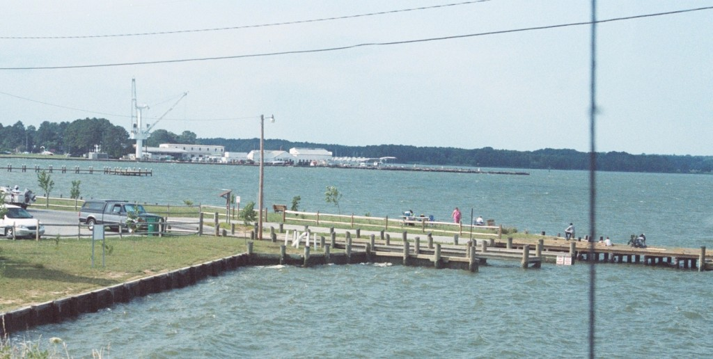 Many folks fish for free around the St. George Island boat ramp. Fishing from the bridge is prohibited due to boat traffic underneath. THE CHESAPEAKE TODAY photo