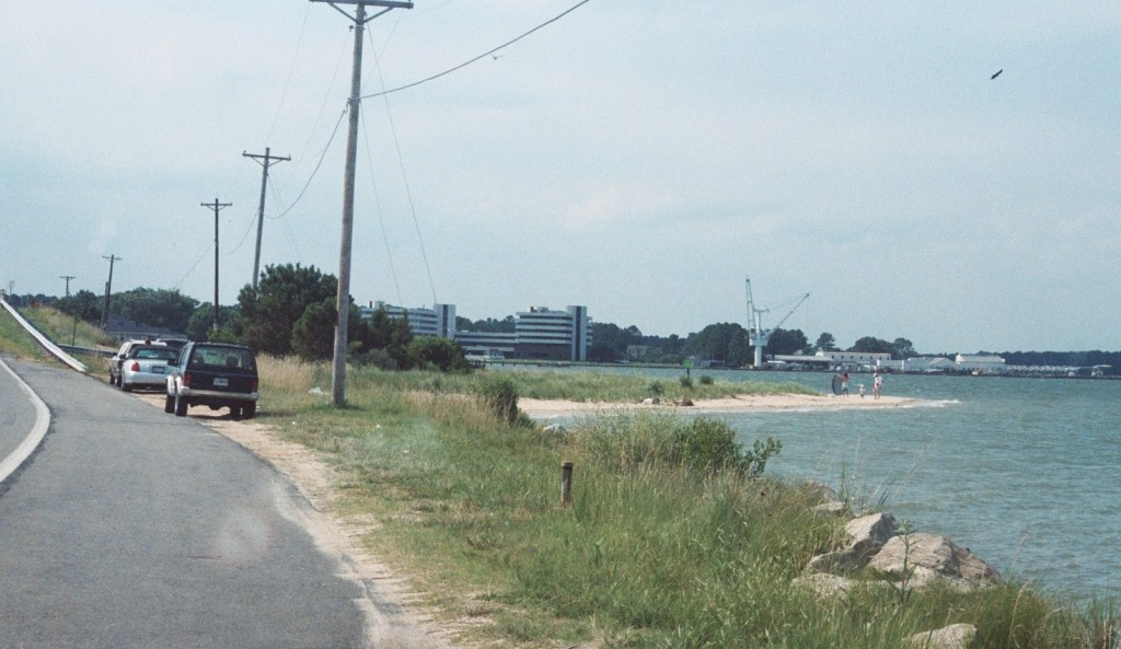 Many shore fisherfolks are unmolested by police near the St. George Island bridge. The area is marked for no swimming as currents are dangerous and strong, leading to many drownings. THE CHESAPEAKE TODAY photo