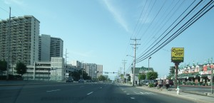 No traffic in Ocean City. It is official and photos don't lie. This photo was taken before the weekend population of Ocean City had stirred.  THE CHESAPEAKE TODAY photo