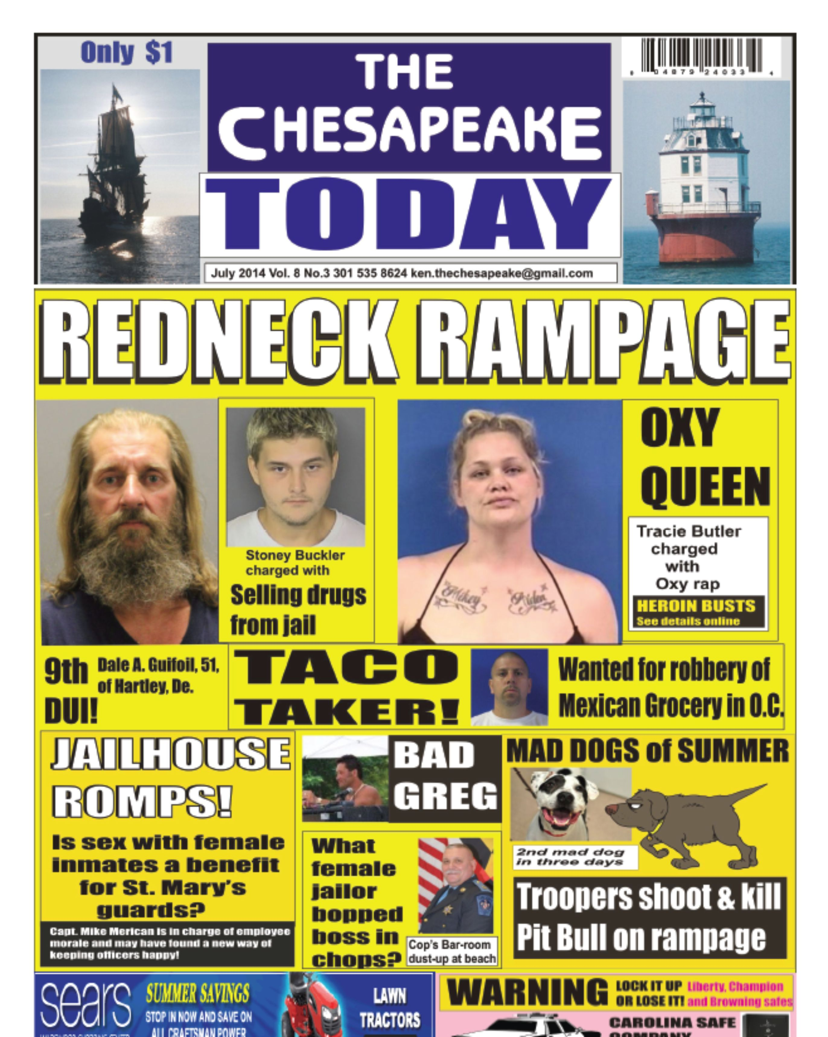 THE CHESAPEAKE TODAY now on newsstands from Glen Burnie to Ocean City