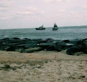 Coast Guard rescues 3 OC Beach Patrols and surfer in an incident in July of 2014.