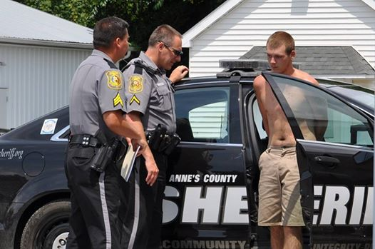 Teddy Lee under arrest in Queen Anne's County Md.