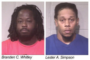 Branden Whitley and Lester Simpson arrested by Ocean City Police.