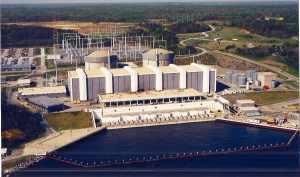 Calvert Cliffs Nuclear Power plant on the Chesapeake Bay.