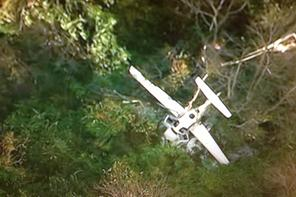 Crashed plane at Frederick, Md. Photo courtesy of ABC 7 News Chopper 7