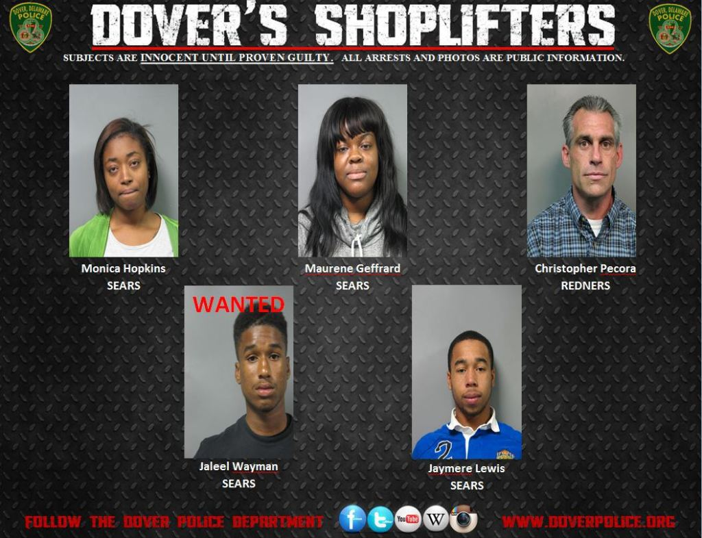 Dovers Shoplifters for Nov 20 2014