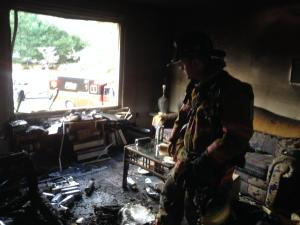 Fire began in living room of house on Cottontail Dr. in Salisbury Md.