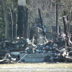 The home of Howard and Dea Hawks was a total loss when fire roared through the home at about ten o'clock in the morning.  THE CHESAPEAKE TODAY photos