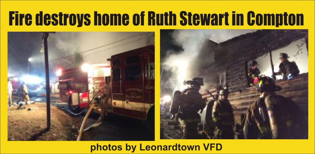 Fire destroys home of Ruth Stewart in Compton