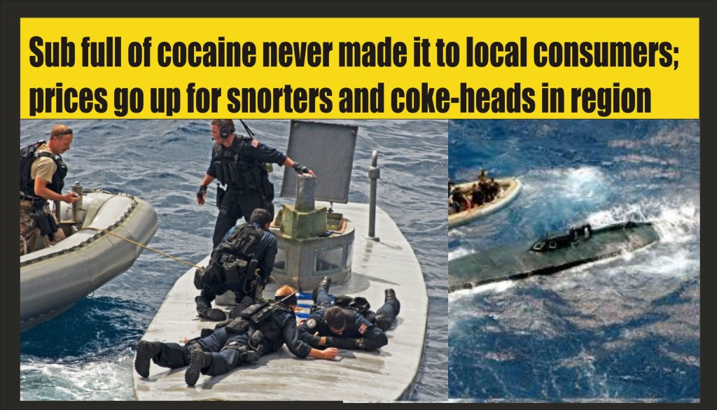 Submarine captain goes to slammer for 2300 kilos of cocaine