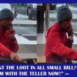 Bank robber on the cell phone in Hyattsville Md web