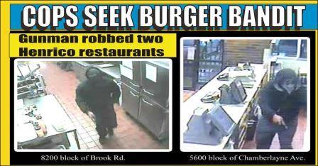 Cops Seek Burger Bandit