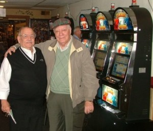 St. Mary's Landing owner Billy Hills and slot machine operator Frank Moran posed for this photo and gave an interview in 2008 asserting that they were legit. An audit found little funds from the slot machines turned up in the accounts of charities.