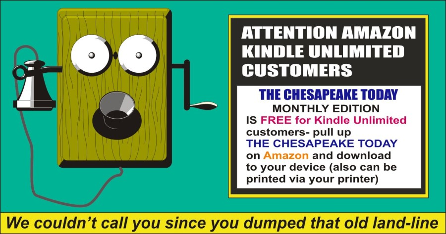THE CHESAPEAKE TODAY NOW Available – FREE to Kindle Unlimited customers!