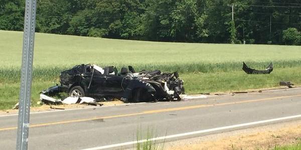 Crash in Charles City County PHOTO Jon Burkett WTVR
