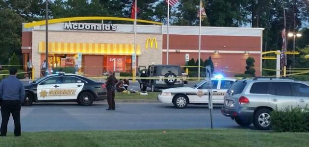 McDonalds shooting in Waldorf. Photo NBC 4 Washington