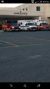 Bloxum Vol Fire company ambulances shown arriving at hospital a couple days before fatal crash.  Facebook photo