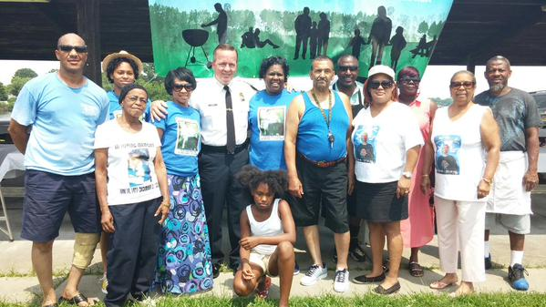 Baltimore City Commissioner Kevin Davis attends Mothers of Dead Sons