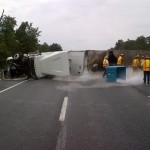 Dry ice truck overturns on 95 NBC12 photo