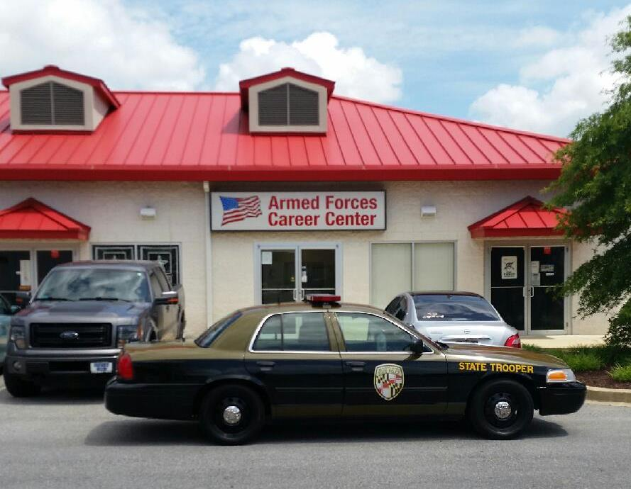 Leonardtown Barrack of the Maryland State Police making intensive patrol of St. Mary's County Armed Forces Center.
