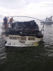 Burned hulk of Goodtime Girl -  she was hot. Photos courtesy of Susquehanna Hose Co.