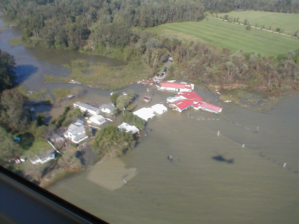 Boaters have always visited Drift Inn on the Patuxent by water. The day after Isabel hit, they could float right into the dining room or the float-in window.
