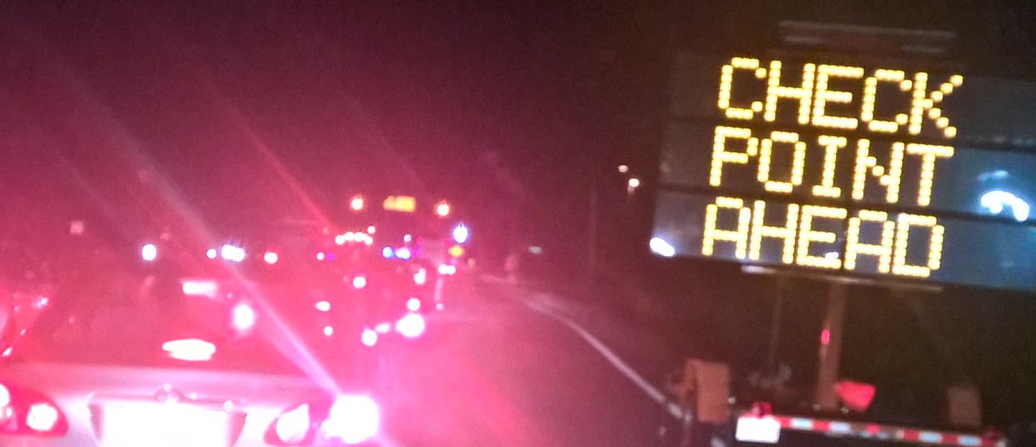 A sobriety checkpoint in Charles County, Md. THE CHESAPEAKE TODAY photo
