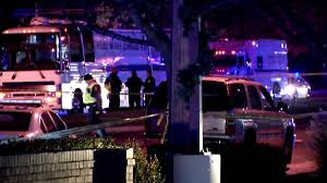 DUI crash scene Rockville Md 120415 Officer Leotta critical. Photo NBC 4 Washington