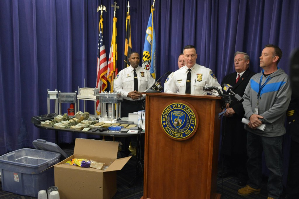 Baltimore City Police seize 4 kilos of heroin and cocaine 012816