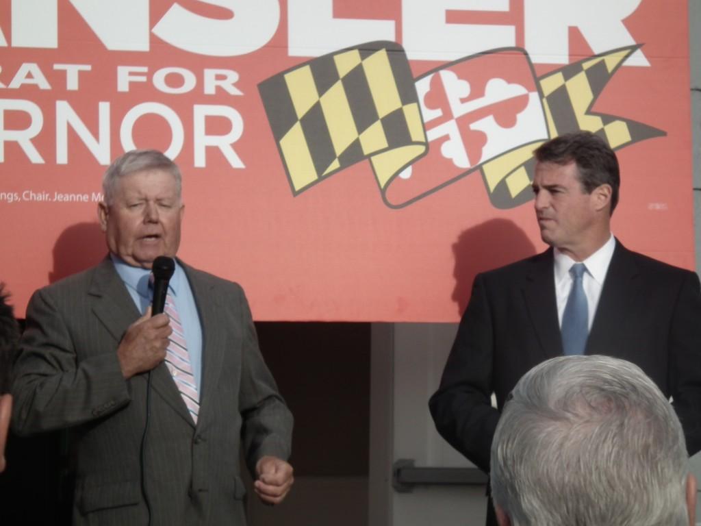 Robert T. Brown endorsing Attorney General Doug Gansler in his 2014 race for Governor.