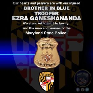 Trooper Ezra Ganeshananda in critical condition