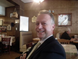 Dr. Mike Martirano in his favorite lunch place in Lexington Park, Md., Linda's Cafe. THE CHESAPEAKE TODAY photo
