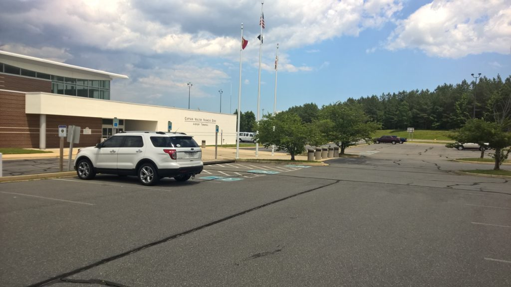 The St. Mary's County Chamber of Commerce is the only tenant and the parking lot is empty as tourists likely find Cheeseburger in Paradise a lot easier to find than this White Elephant. The price must be cheap to have the Chamber grab the world's worst location for tourist traffic. THE CHESAPEAKE TODAY photo