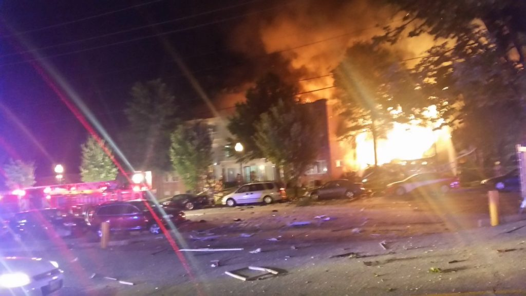 Piney Branch Road 3rd alarm apartment house fire injuries and rescue Mont. Co Fire