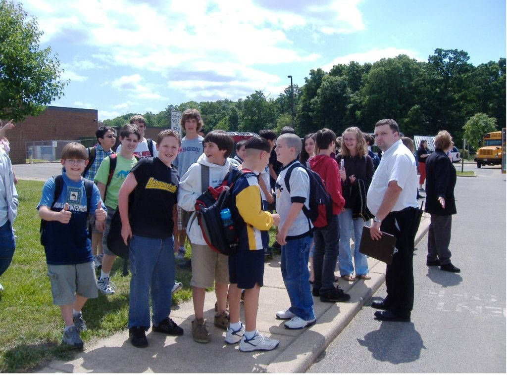 Leonardtown Middle School students 2005