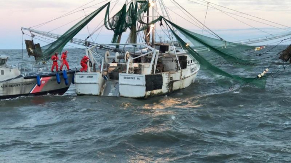 Coast guard saves fishing vessel capt jimmy from visit to for Davy jones locker fishing
