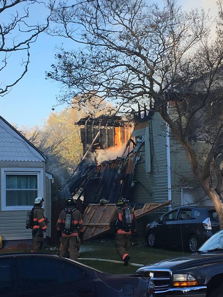 Norfolk fire scene A Nov. 27, 2017. Norfolk Fire & Rescue ...
